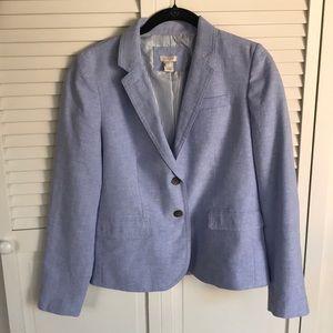 EUC J Crew Schoolboy Linen Blazer